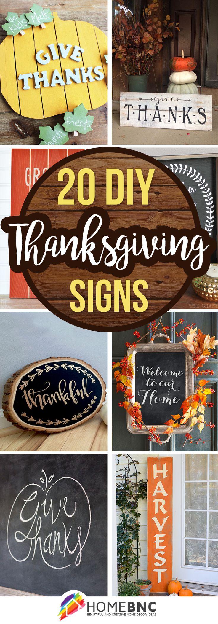 Thanksgiving Sign Ideas