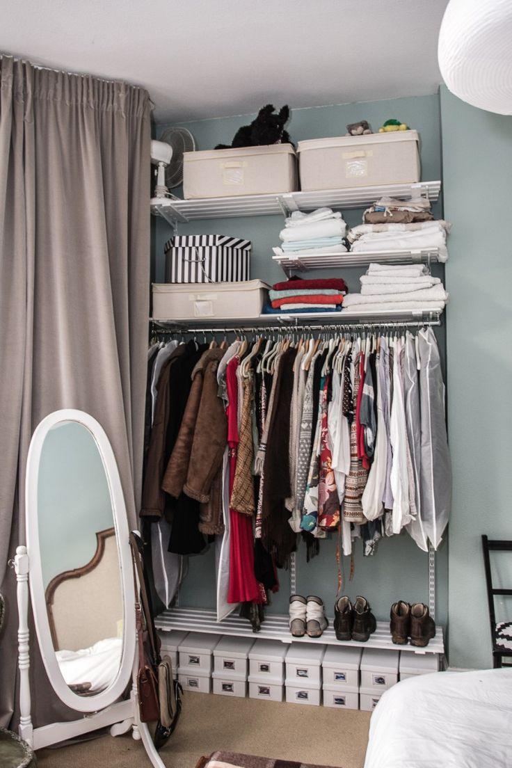 Die besten 25+ Offener kleiderschrank regalsystem Ideen auf ...