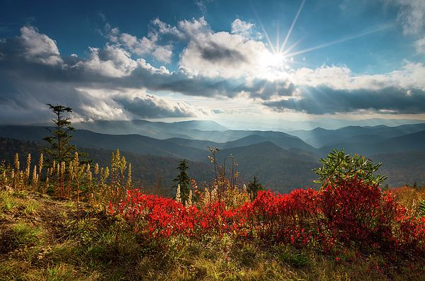Autumn afternoon along the Blue Ridge Parkway in Western North Carolina.  Landscape photography by Dave Allen  www.daveallenphotography.com