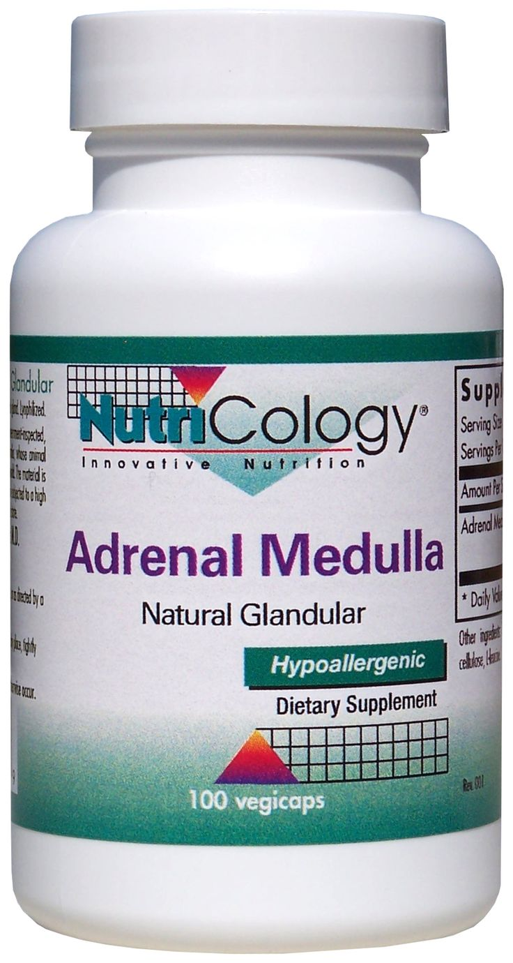 Adrenal Medulla Natural Glandular 100 Capsules