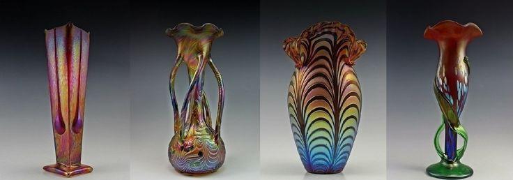 Loetz Style Vases