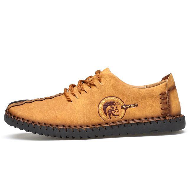 Марка Мужская Обувь Ручной Работы 2017 Новый Кожаный Мужская Обувь, босоножки, Мода Квартиры Slip On Удобные Летние Мужчины Обувь мокасины