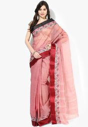 Mmantra Mauve Solid Cotton Saree Online Shopping Store