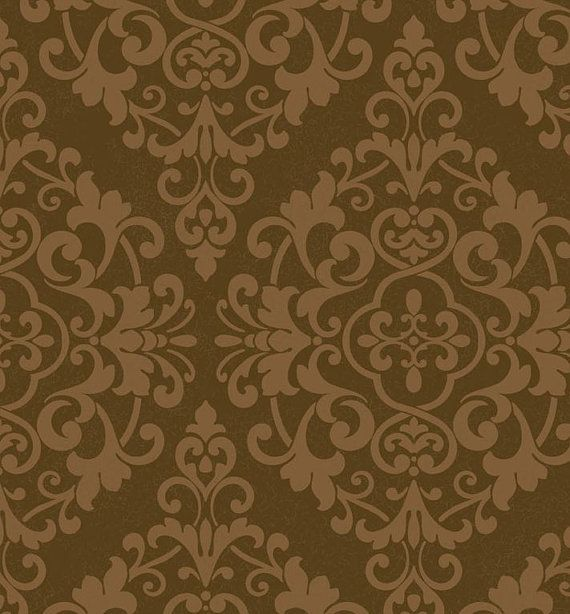 wallpaper remnant x lacy gold metallic damask brown large medallion victorian