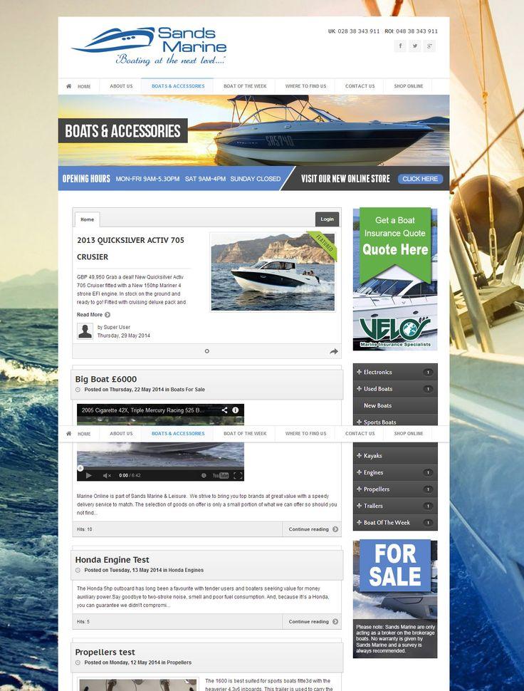Sands Marine - three60design Banbridge Northern Ireland - Web Design