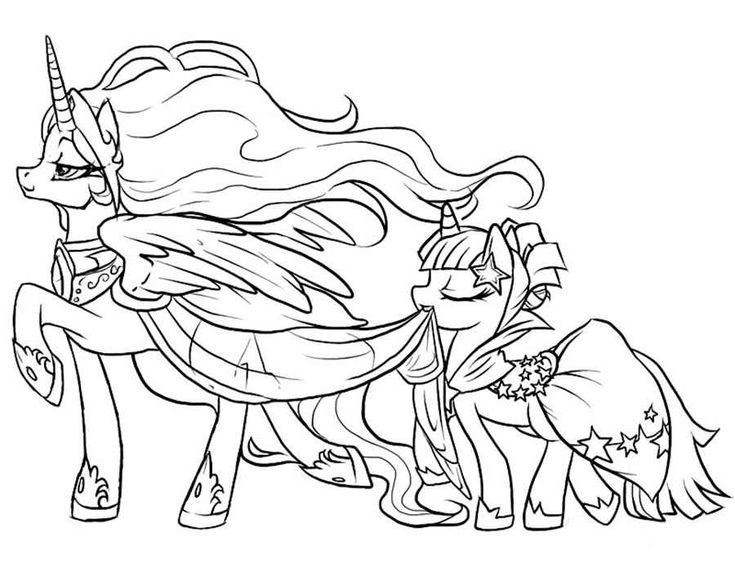 59 best My Little Pony Coloring Pages images on Pinterest  Kids