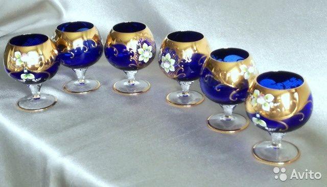 Bohemia Cristalex Набор бокалов богемское стекло— фотография №3