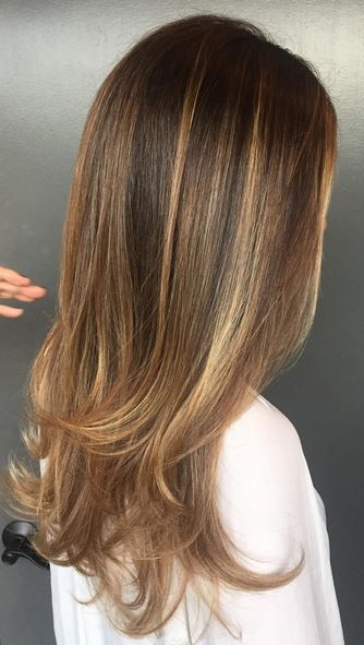 want this - caramel and honey highlights on brunette hair