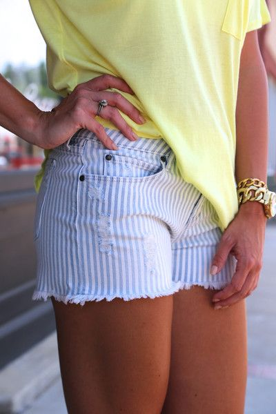 Mya Pinstripe {Shorts}