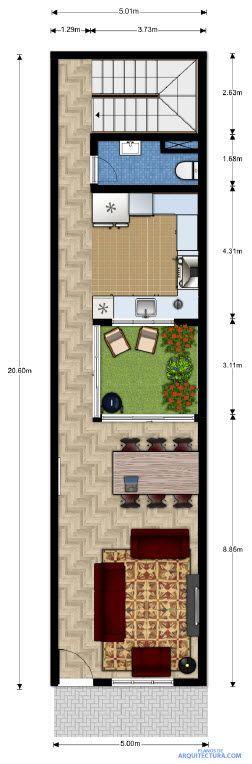 M s de 25 ideas incre bles sobre planos de casas peque as for Distribucion de apartamentos de 40 metros