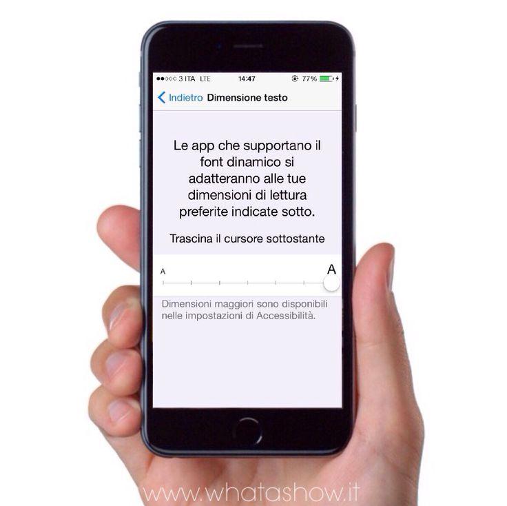 Aumenta o diminuisci il font delle app native e di quelle che supportano questa funzione in Impostazioni> Schermo e Luminosità> Dimensione Testo. #iPhoneTips