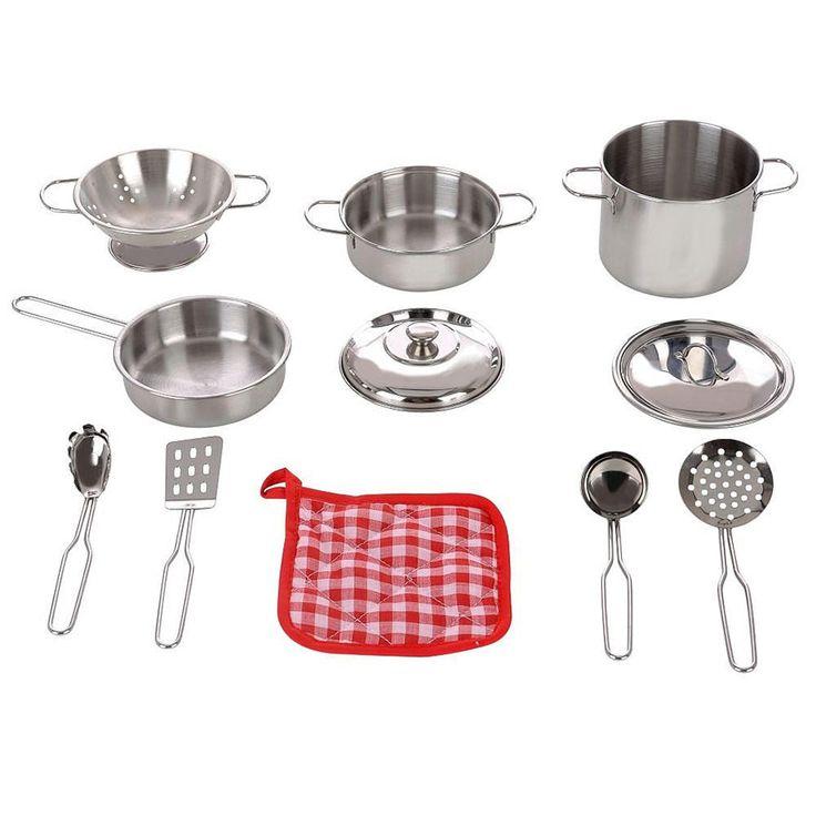 Just Like Home 11 Piece Pots and Pans Set | ToysRUs Australia