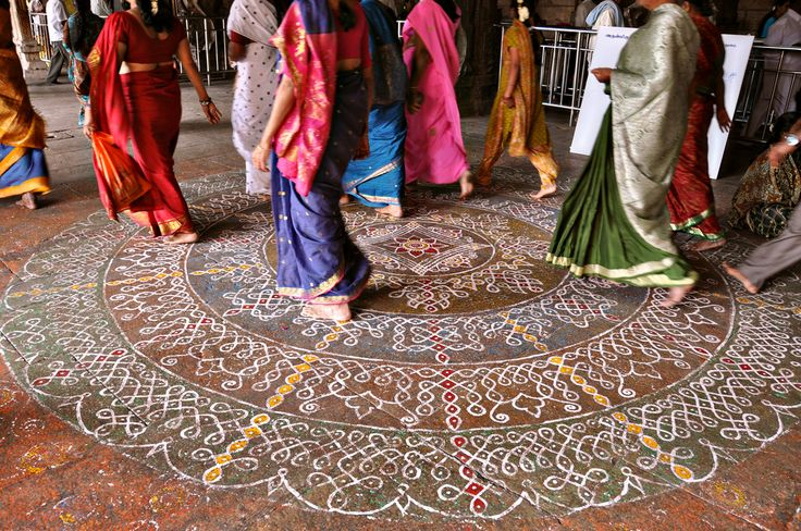 Kolam in Meenakshi Temple.  © Stacie Chan
