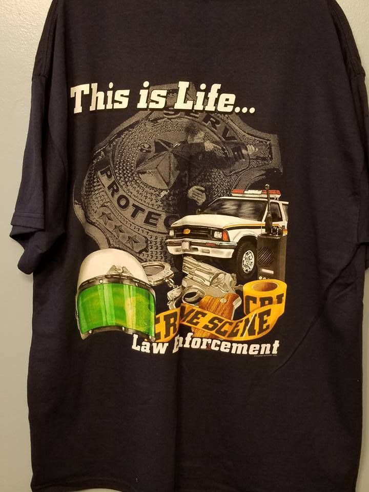 This is Life Law Enforcement Tee Shirt Size Large (NWOT) Police Tee, Police Gift #deltamagnumweights #BasicTee