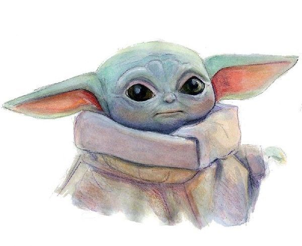 Wondrous Baby Yoda Pencil Color Sketching You Will Trigger To Draw Easy Drawings Of Baby Yoda Easybabyyodadrawing B Yoda Drawing Cartoon Drawings Drawings
