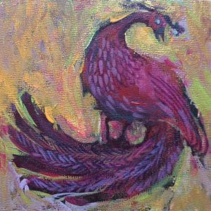 Phoenix painting by Alexandra Kruglyak
