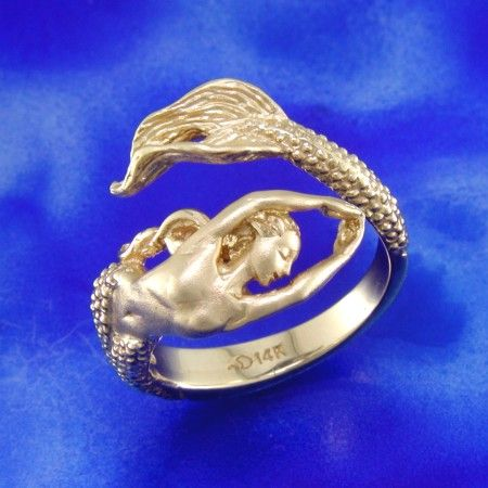 Mermaid Ring. Yes, I know a man that would wear this. He also speaks to mermaids. :-)