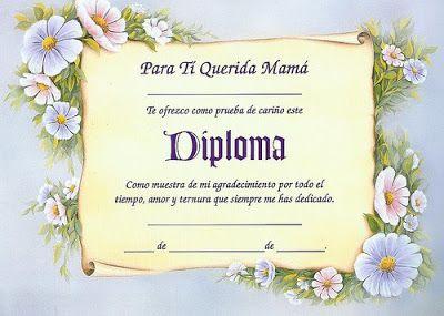 Diplomas para mamá para imprimir   Imagenes para imprimir.Dibujos para imprimir                                                                                                                                                                                 Más