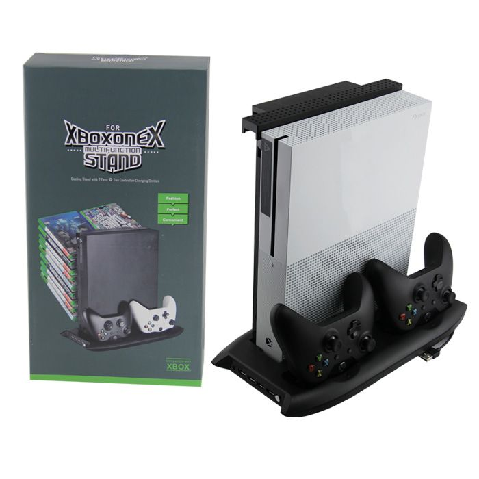 Xbox One X Multifunction Stand With Basket Xbox One X Accessories