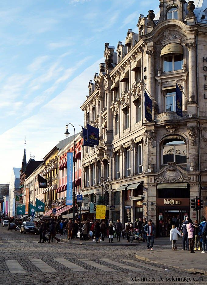 View along Oslo's famous shopping street Karl Johans Gate - one of the things to do in oslo
