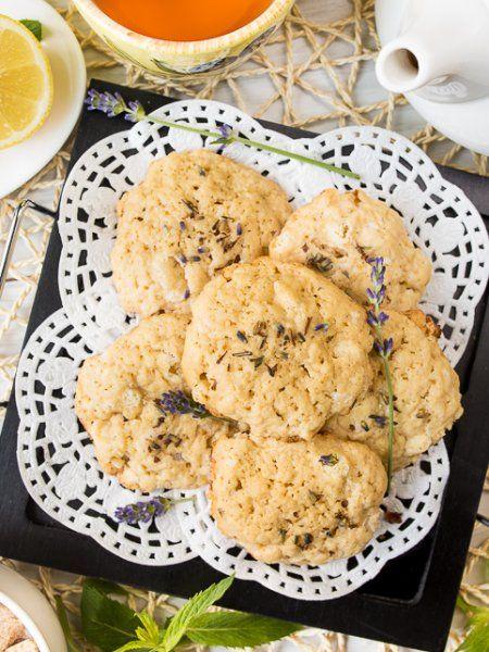 Лавандовое печенье с белым шоколадом