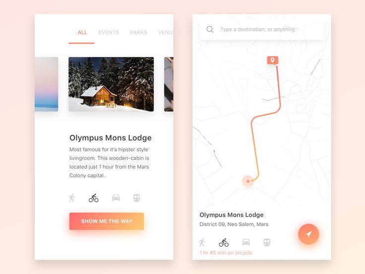 Navigation interface – iOSUp