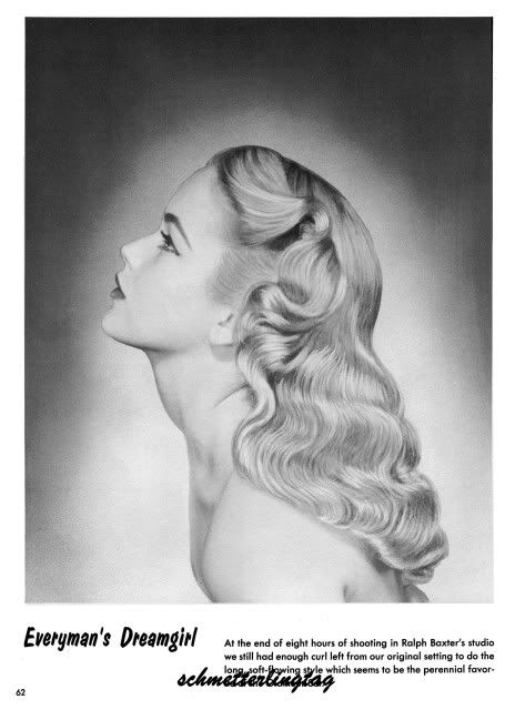 1950 sculputured hair | 1950s Atomic Hairstyle Book Create 50s Long Hairstyles | eBay