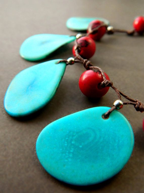 Statement Necklace - Eco Tagua & Acai