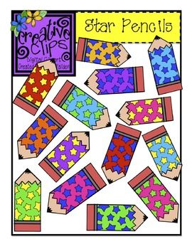 FREE CLIPART! Over 20 fun star pencils for personal and commercial use :) Creative Clips by Krista Wallden :) Enjoy!