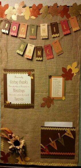 Fall Bulletin board designed by Annie Ridd.