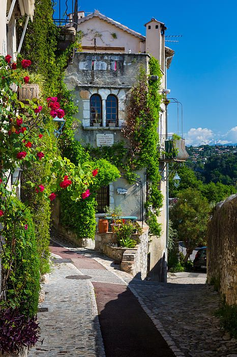 Street in Saint Paul de Vence in southern France.  ASPEN CREEK TRAVEL - karen@aspencreektravel.com