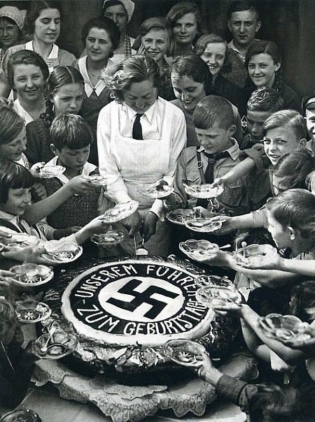 drittes reich | Cake handed out on Hitler's Birthday. April 20, 1934. Berlin.