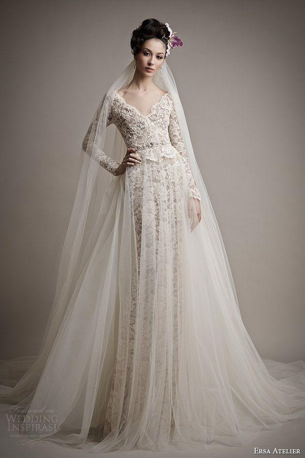 Ersa atelier 2015 yatie long sleeve lace wedding dress for Long sleeve wedding dresses pinterest
