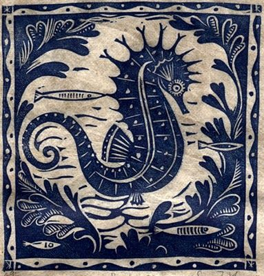 Sarah Young is the creator of this beautiful seahorse .. .which is ispiring me when creating my new bathroom ... after seeing them alive in Barcelona Aquarium just three days ago