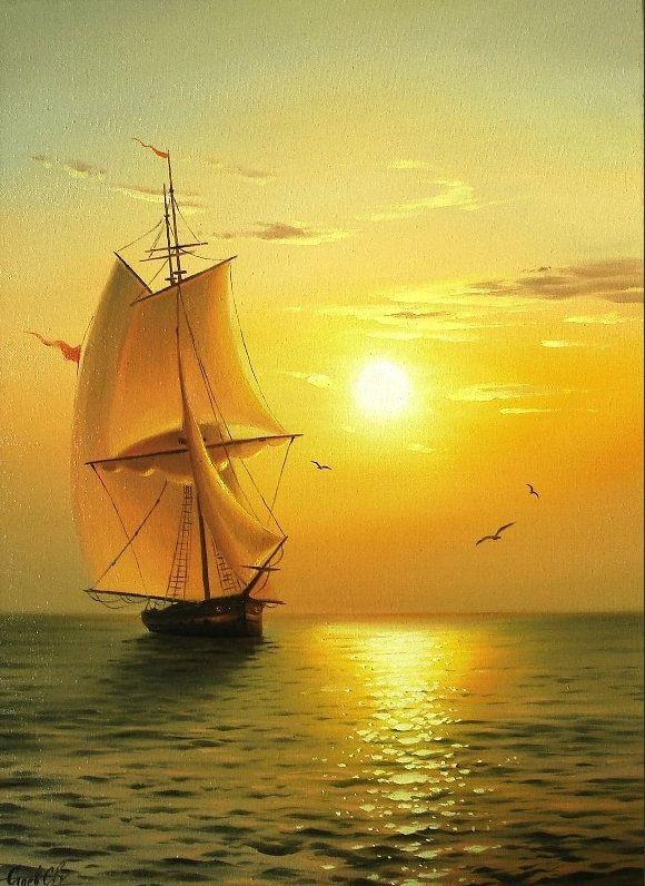 Схема вышивки «Морские пейзажи Сергея Стоева» - Вышивка крестом