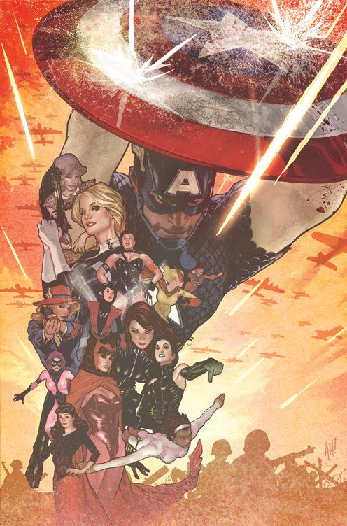 Captain America 75th variant cover by Adam Hughes *