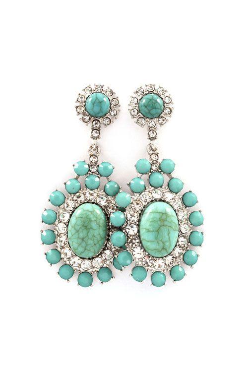 Bella Earrings in Turquoise