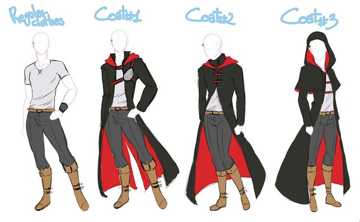 anime male clothes - 736×454