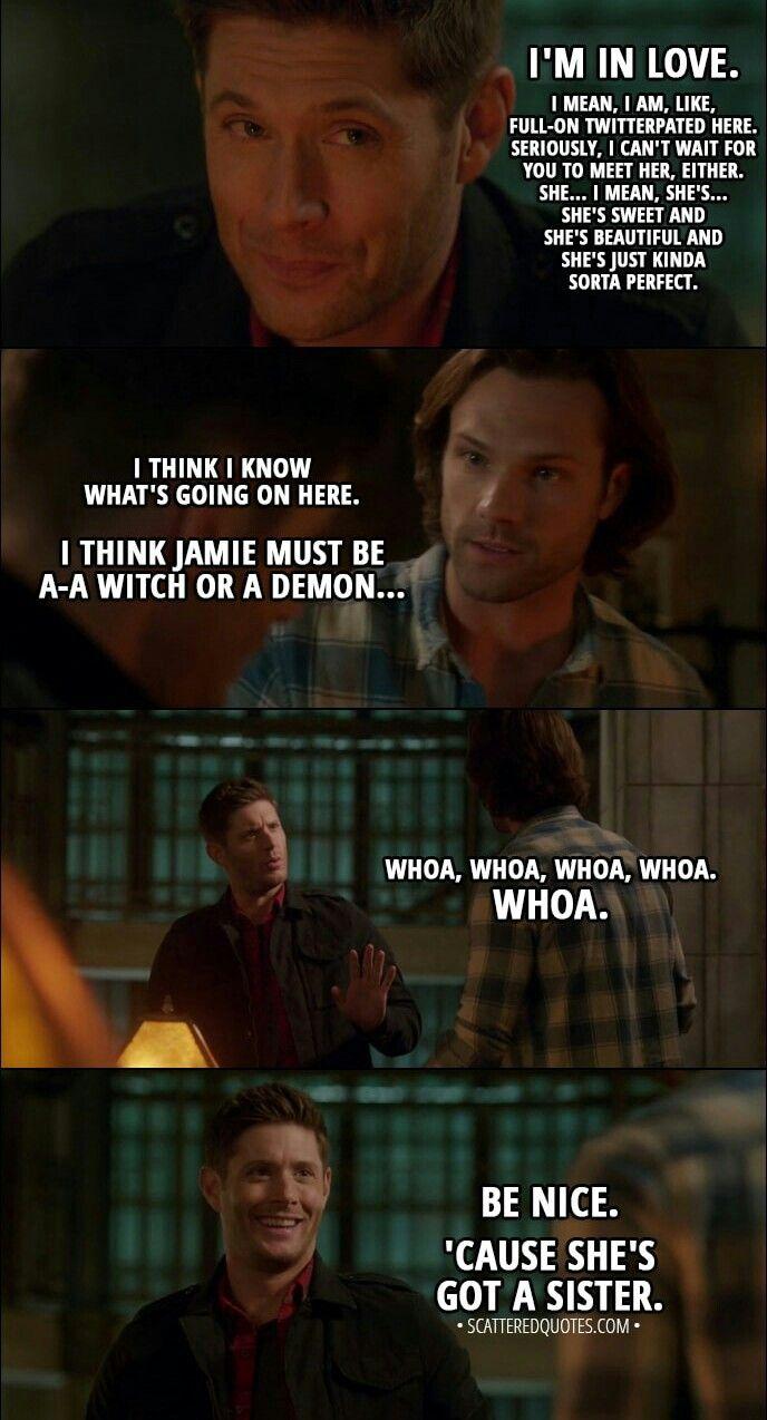 Sam And Dean Winchester Best Supernatural Quotes Supernatural Quotes Supernatural