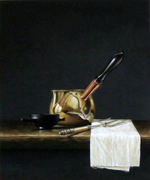Ian Mastin 'Brandy Pan & Quaiche' Acrylics | Scottish Contemporary Art