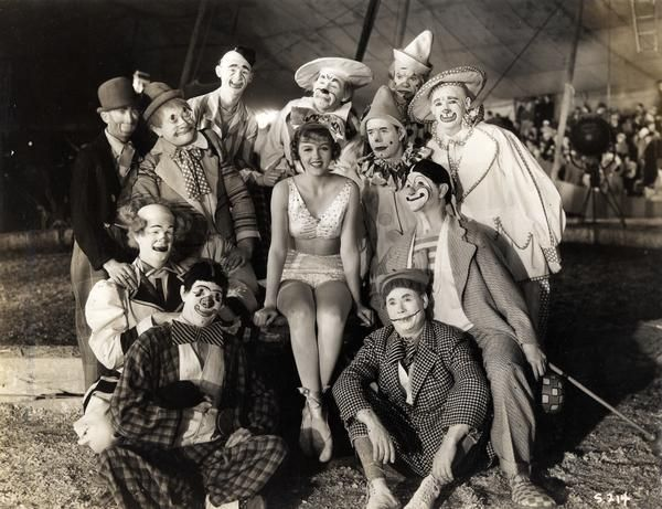 Vintage circus the clown on left with bald head is wayne's grandfather.