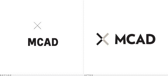 MCAD Logo Before and After