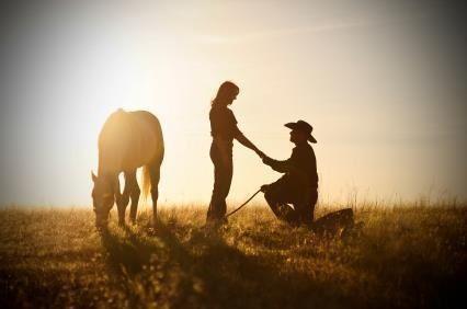 Engagement photo ! Love it country life this is a great way to ask the four special words!