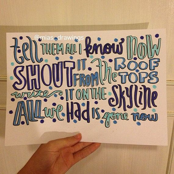 James Arthur/Shontelle Impossible lyric art by Miasdrawings, $5.00
