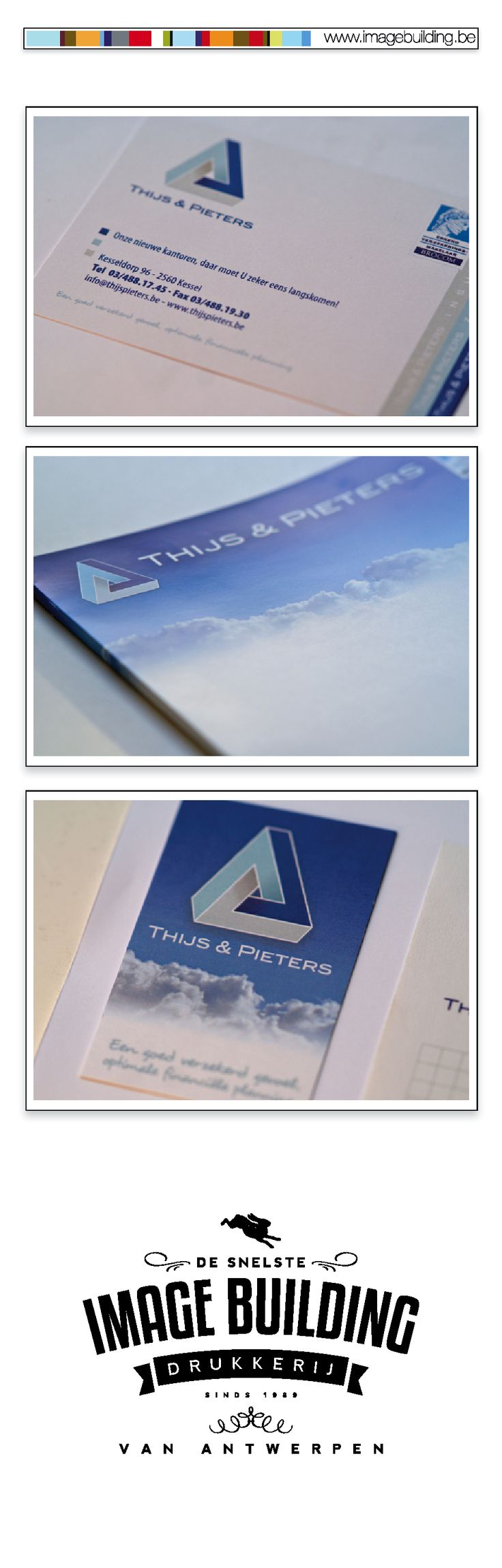 Ontwerp Logo, huisstijl ontwerp en drukwerk voor 'Thijs & Pieters'. Huisstijl. Mappen. Flyers. Rollupbanners. Bashes. Tshirts. visitekaartjes. Auto belettering. Ringmappen. Briefhoofd. Factuur. Fiches. #imagebuildingnv #desnelstedrukkerijvanantwerpen #huisstijl #graphicdesign #grafisch #ontwerp #opmaak #drukwerk