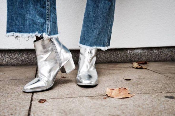 Starr Clare | Silver Metallic Boots - Primark | Jeans - Primark