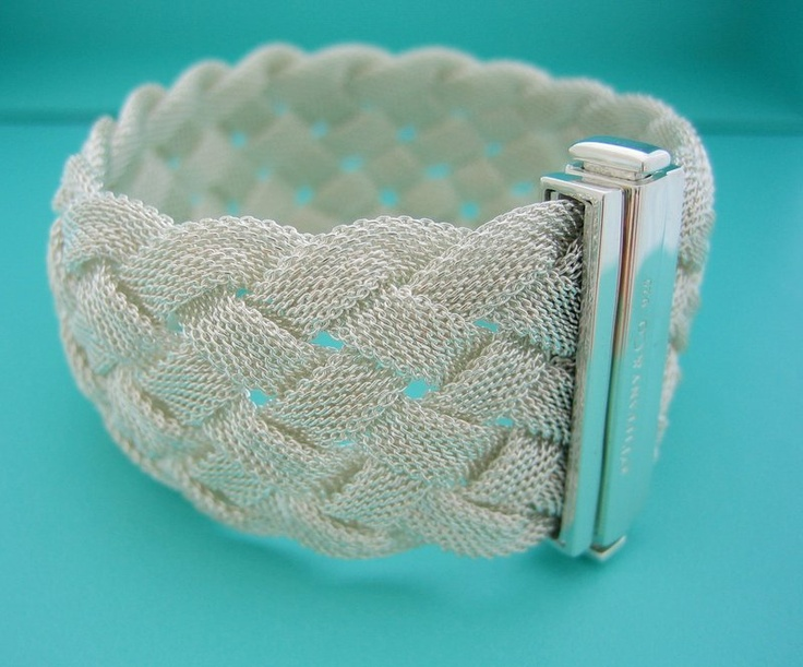 Tiffany & Co Sterling Somerset Braided Bracelet