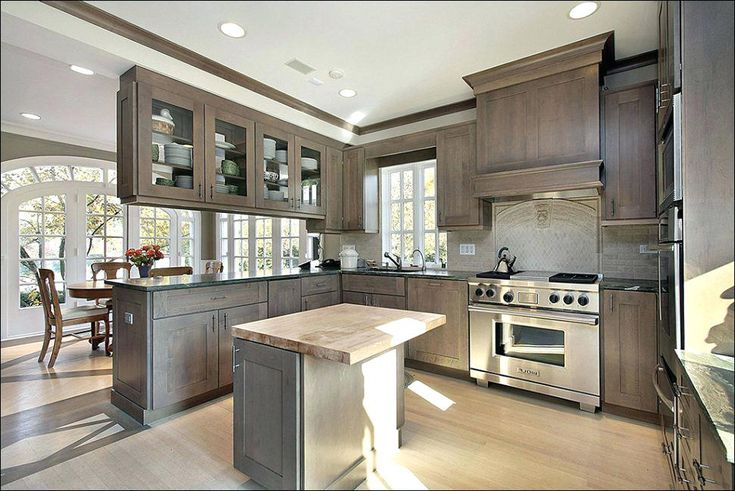 grey stained maple kitchen cabinets charming gray cabinet wood mountain kitchen stained on kitchen interior grey wood id=86753