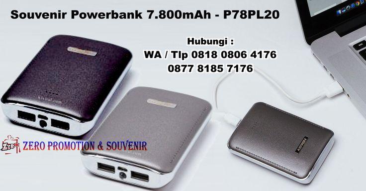 Souvenir Powerbank Plastik (mirip kulit) 7.800mAh - P78PL20