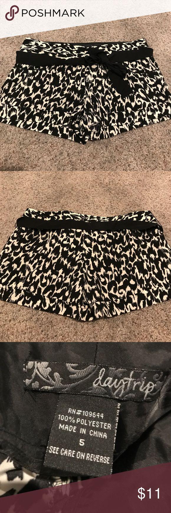 Daytrip black and cream shorts Daytrip black and cream shorts: size 5; 100% polyester Daytrip Shorts